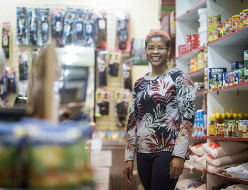 Zaráfrica, un pequeño supermercado africano.
