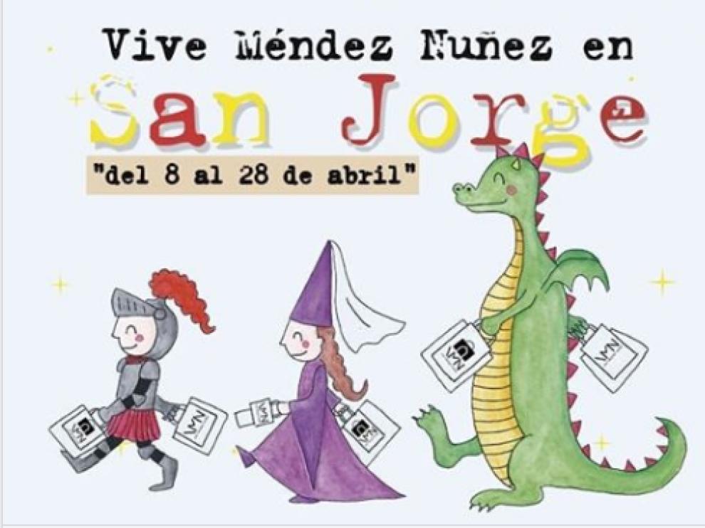 Los comercios de la calle de Méndez Núñez se convierten en un libro abierto