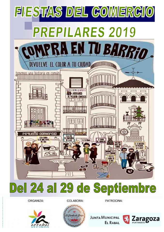 Fiestas del comercio prepilares en el barrio del Arrabal